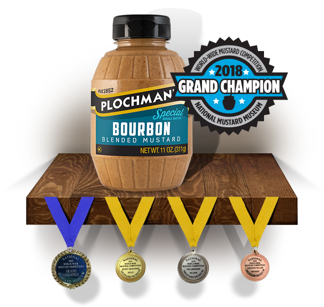 Our Bourbon Mustard was declared Grand Champion at the 2018 World-Wide Mustard Competition