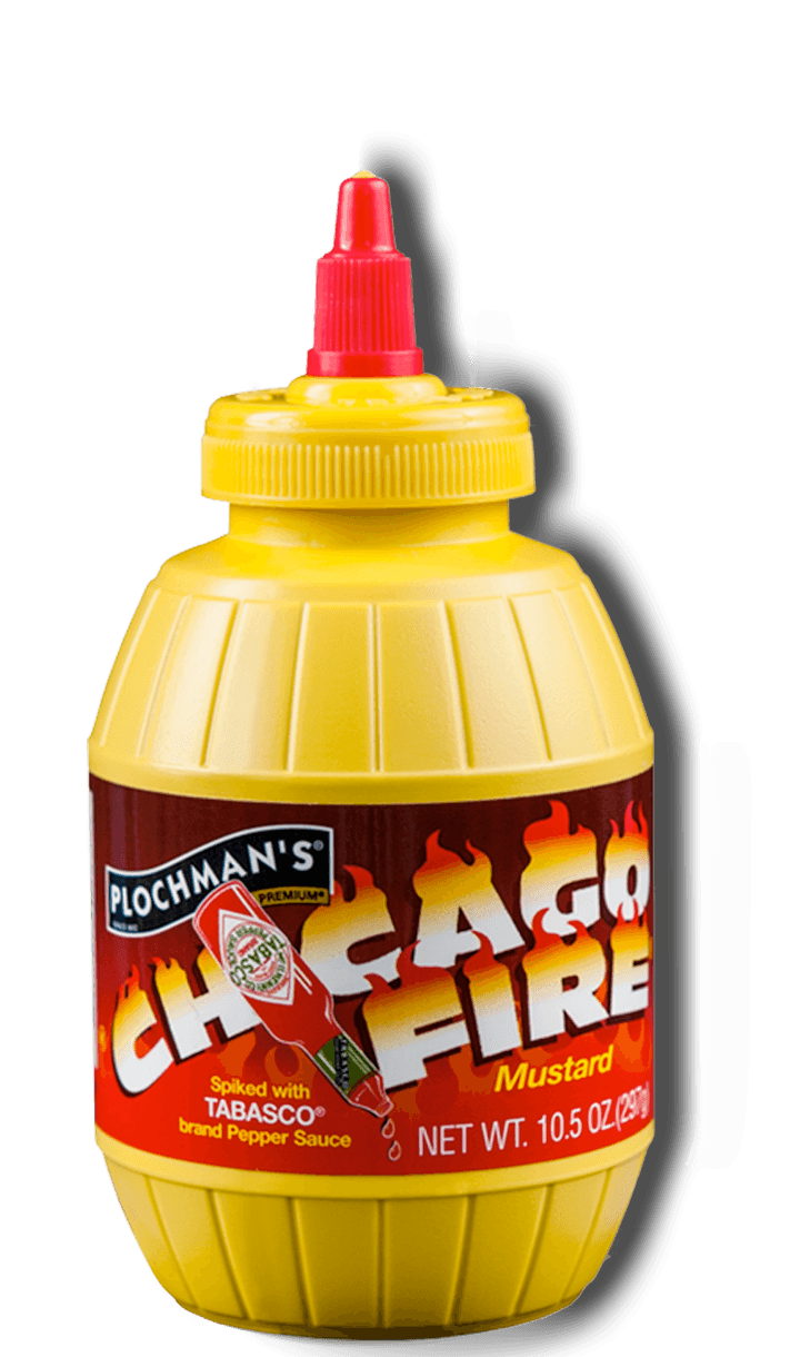 Plochman's Premium Chicago Fire Mustard Label