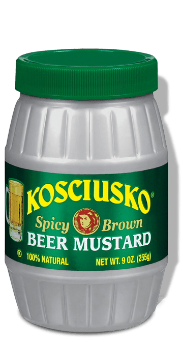 Kosciusko Spicy Brown Beer Mustard