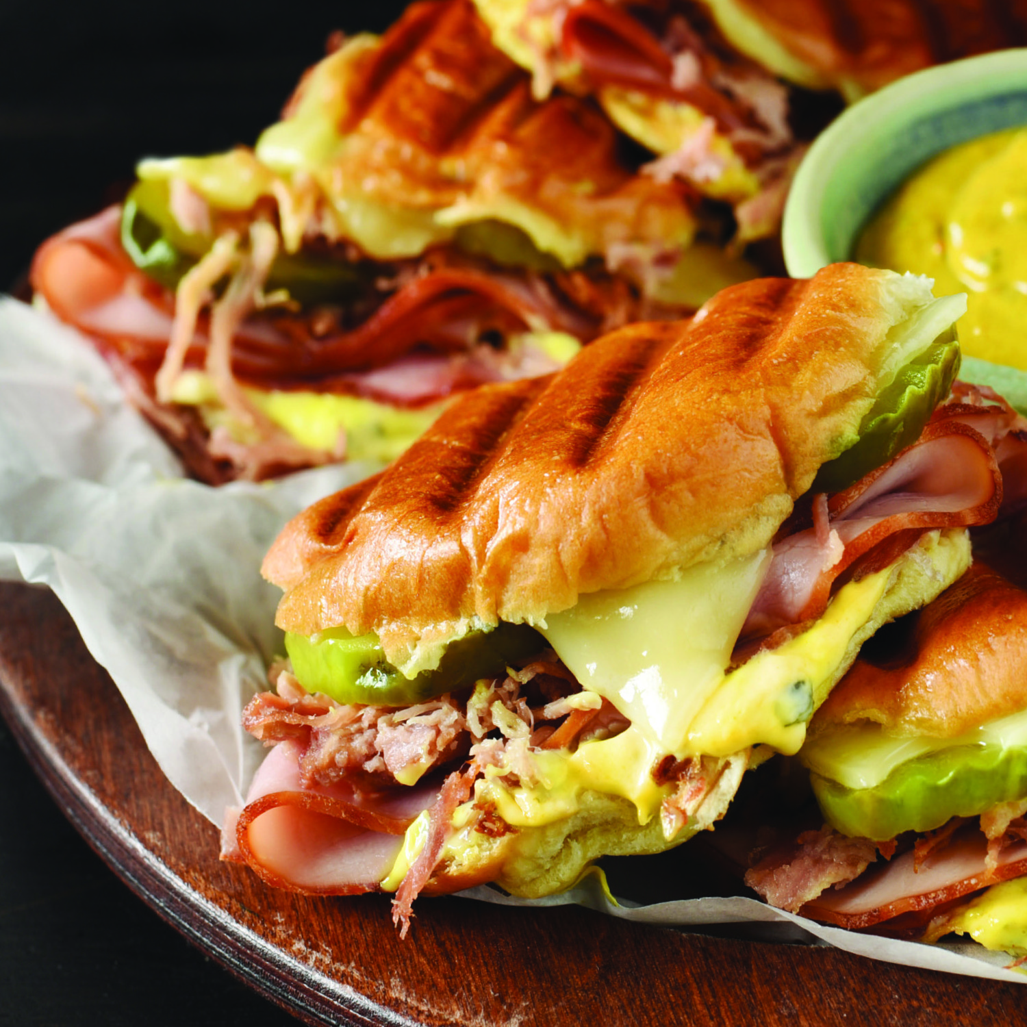 Grilled cuban mustard sliders
