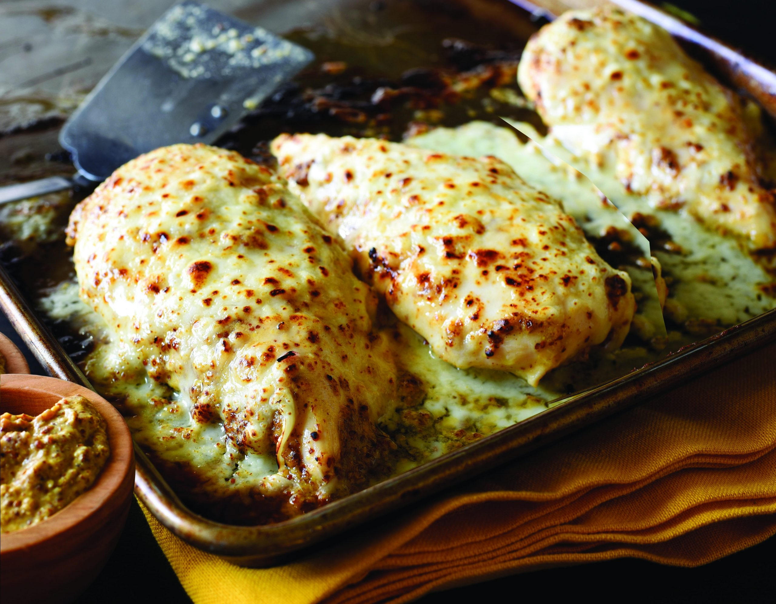 Plochman's Cheesy Baked Stone Ground Mustard Chicken