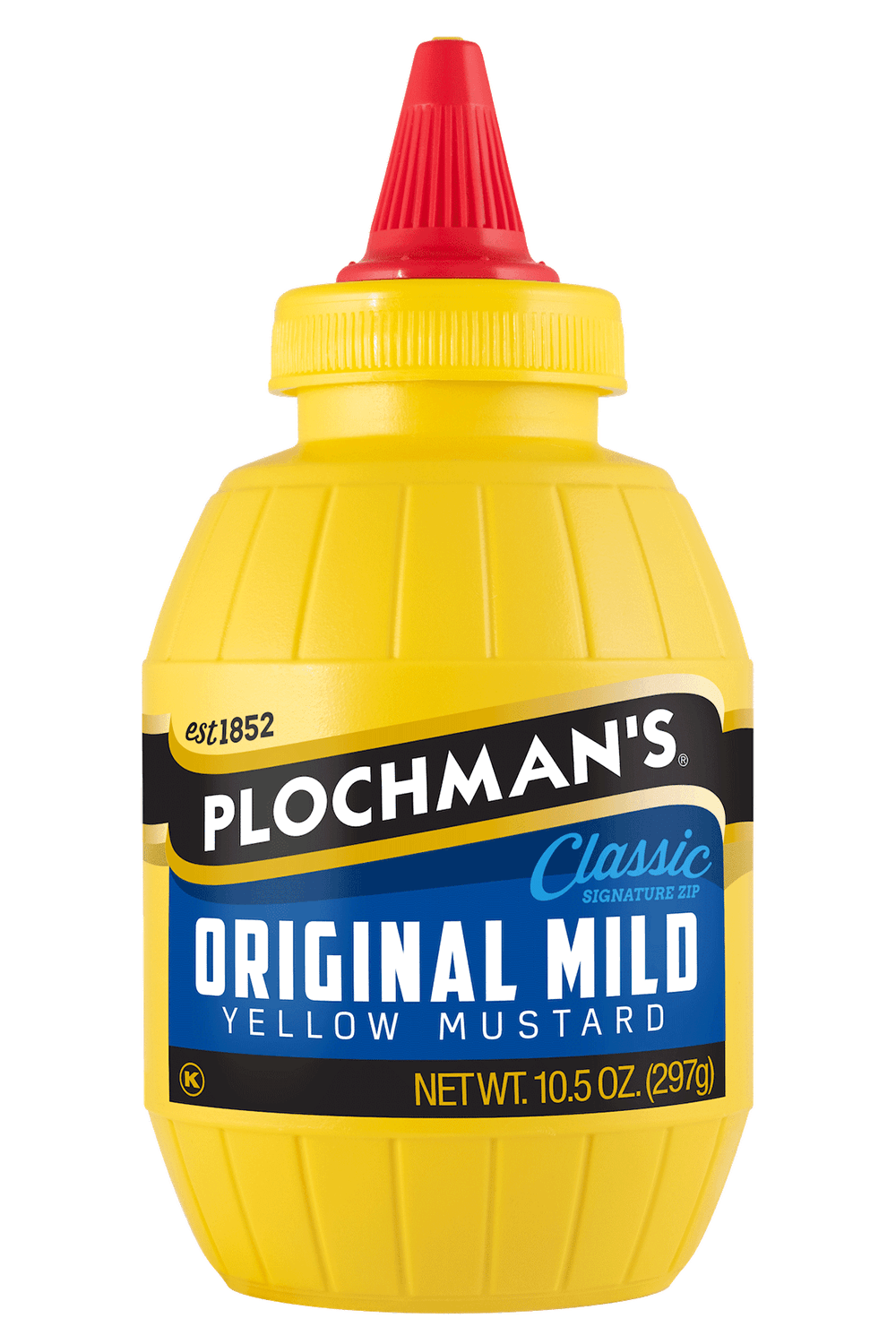 Plochman's Original Yellow 10.5oz barrel bottle