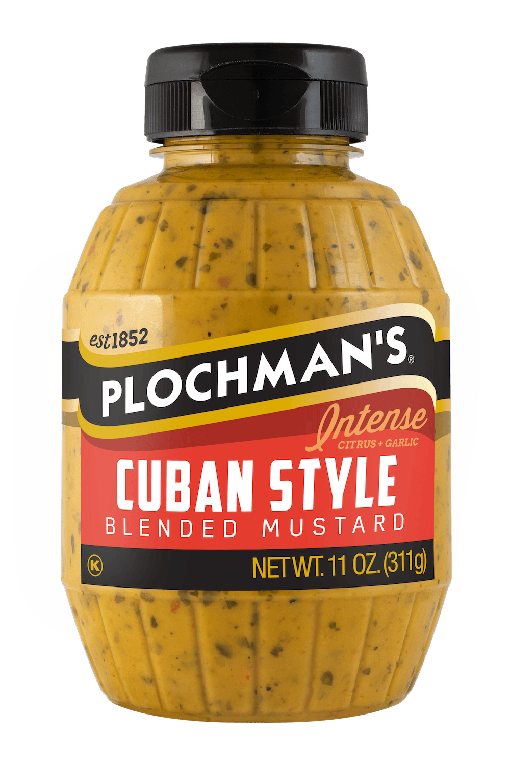 Plochman's Cuban mustard in 11oz Barrel Bottle