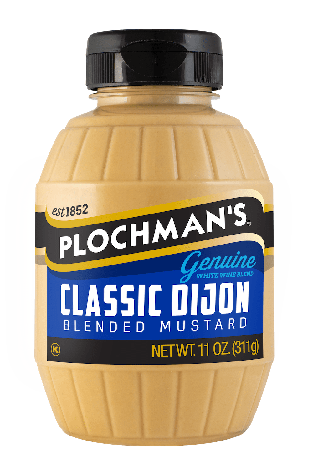 Classic Dijion mustard in 11oz barrel bottle