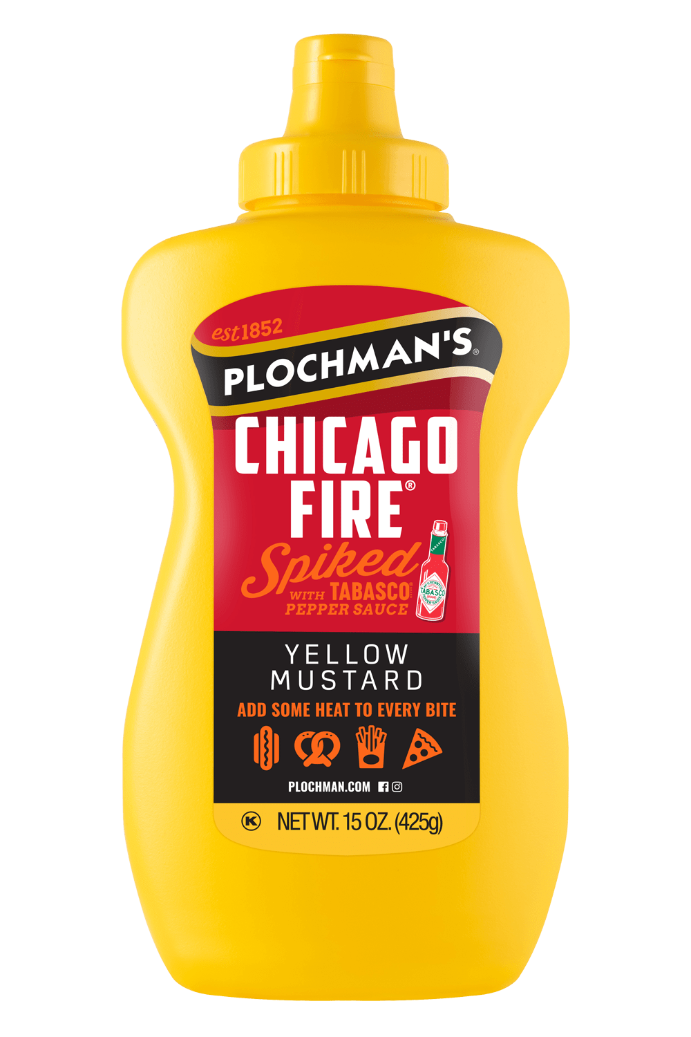 Chicago Fire Mustard in a Banjo Bottle, 15oz