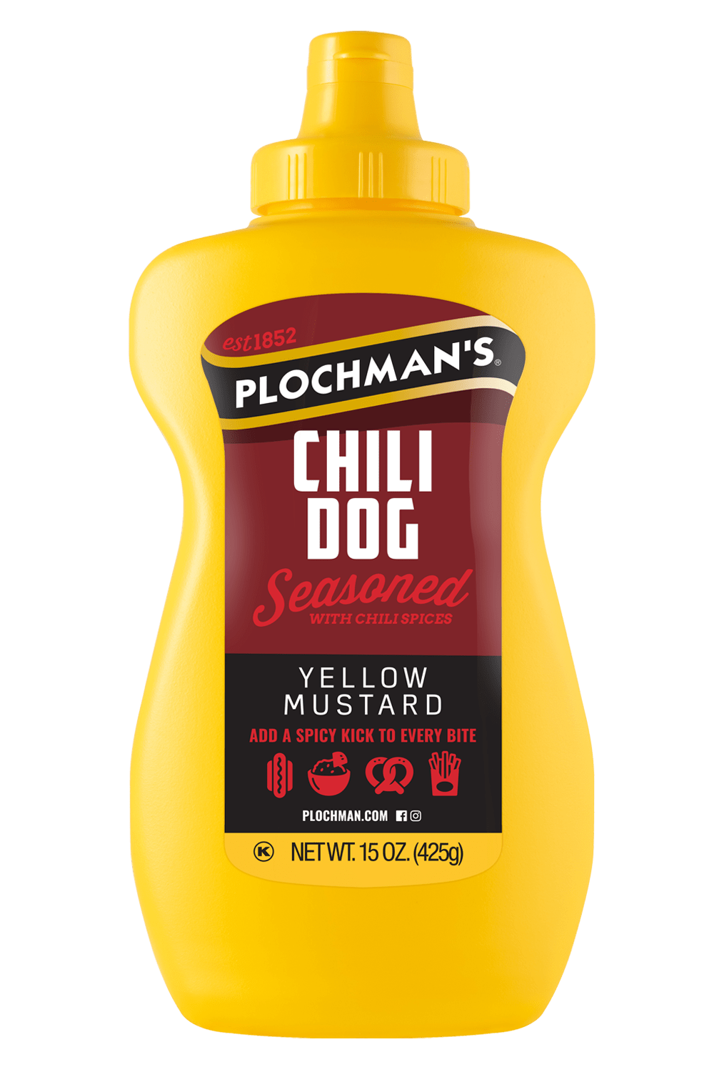 Chili Dog Mustard in a Banjo Bottle, 15oz