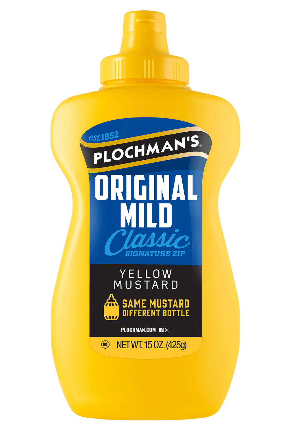 Original Mild Yellow Mustard in a Banjo Bottle, 15oz