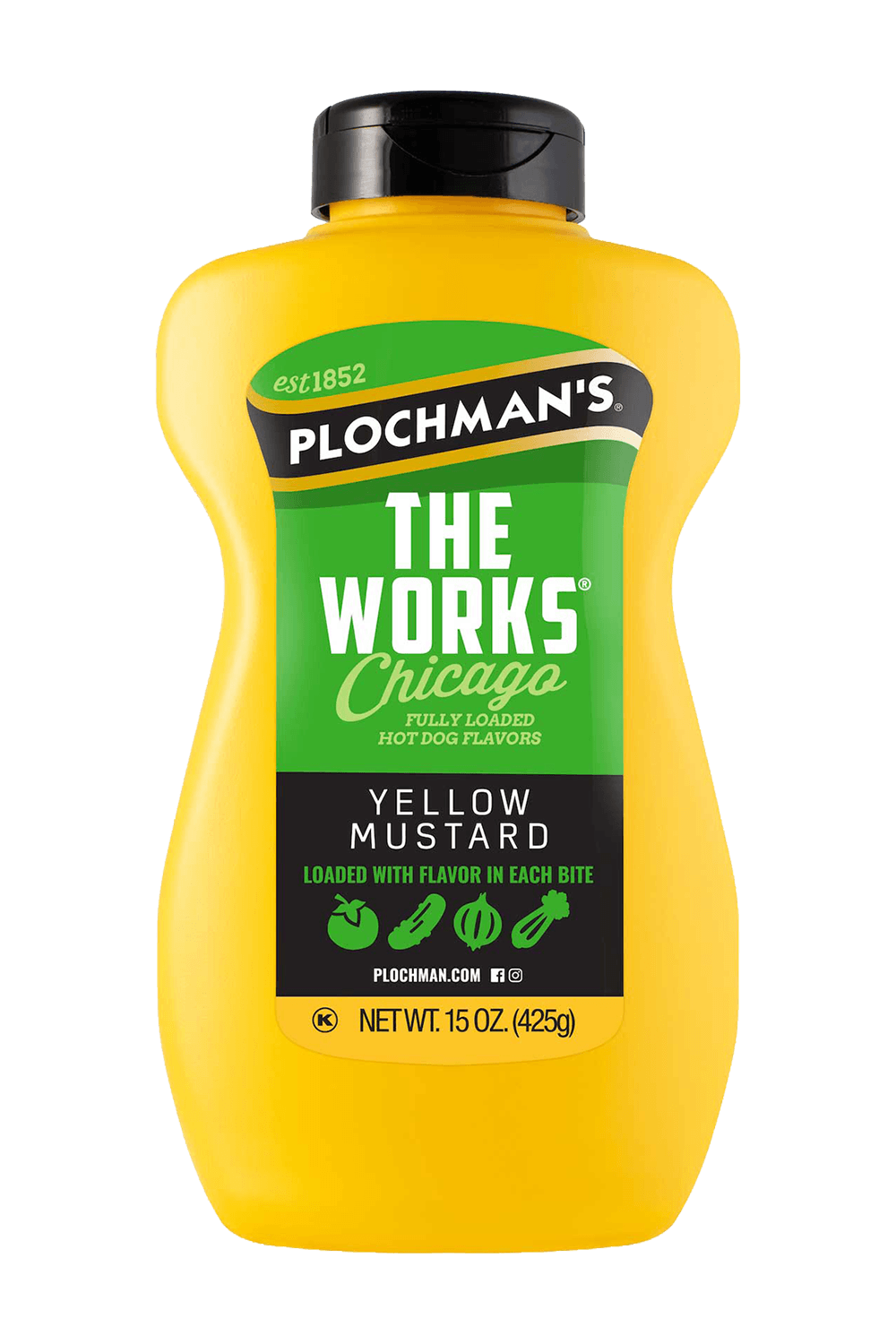 The Works Mustard in a Banjo Bottle, 15oz