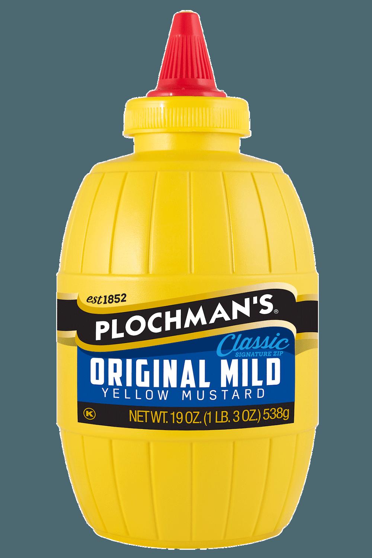 Plochman's Original Mild Yellow 19oz Barrel Bottle