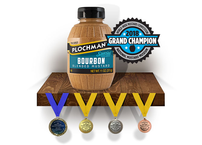 "Plochman's Bourbon Mustard was just declared ""Grand Champion"" at the 2018 World-Wide Mustard Competition"
