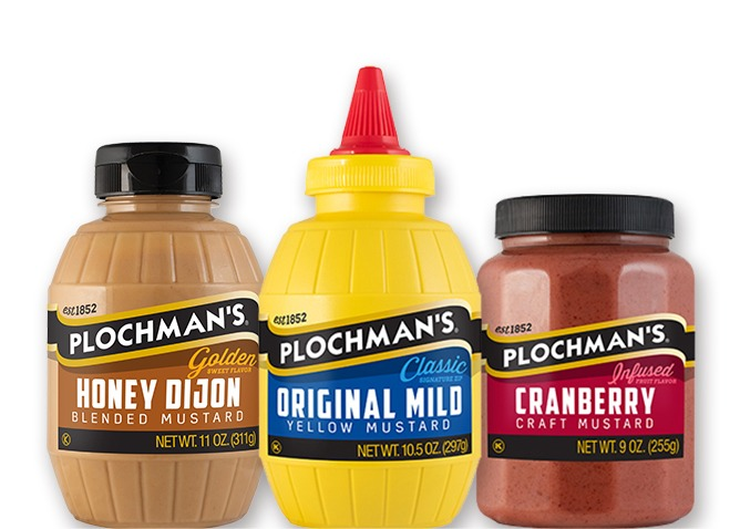 Redesigned labels released in 2020 showcase the premium quality of the Plochman's product