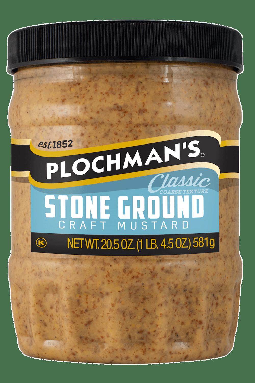 Plochman's Stone Ground mustard in 20.5oz bottle