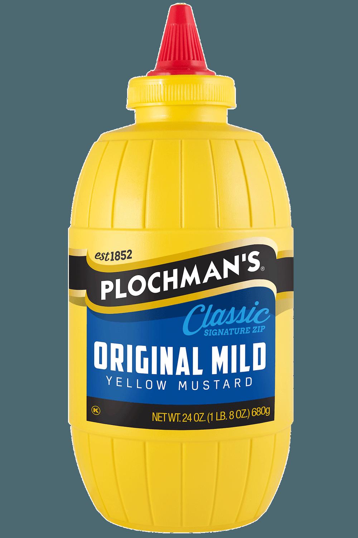 Plochman's Original Mild Yellow mustard 24oz Barrel Bottle