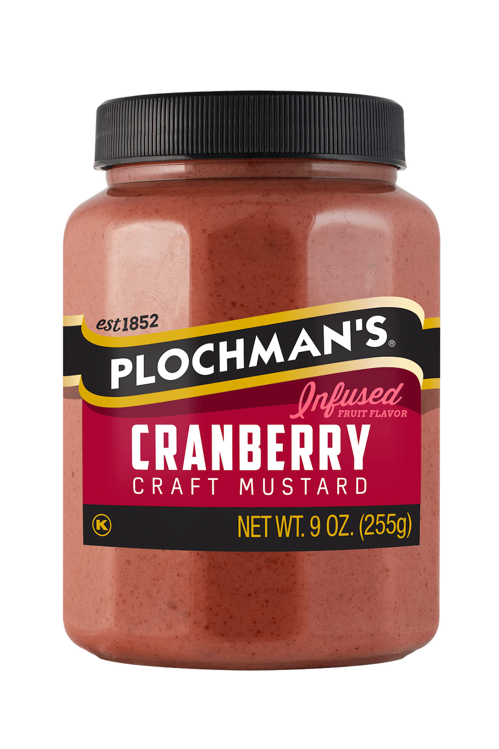 Plochman's Cranberry mustard in 9 oz bottle