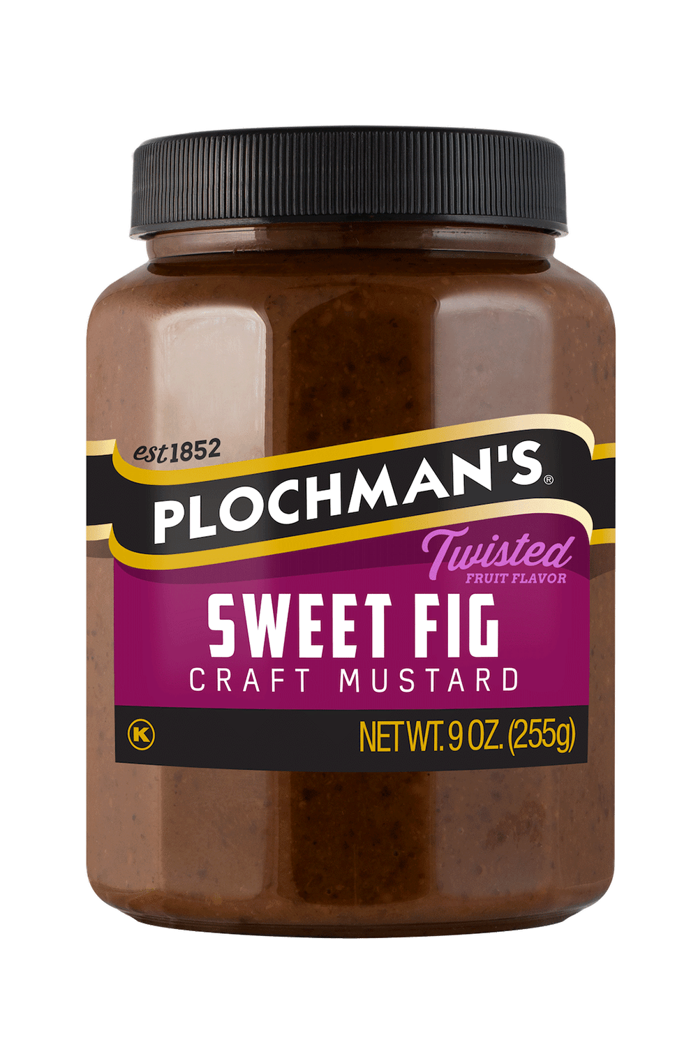 Plochman's Sweet Fig mustard in 9oz bottle