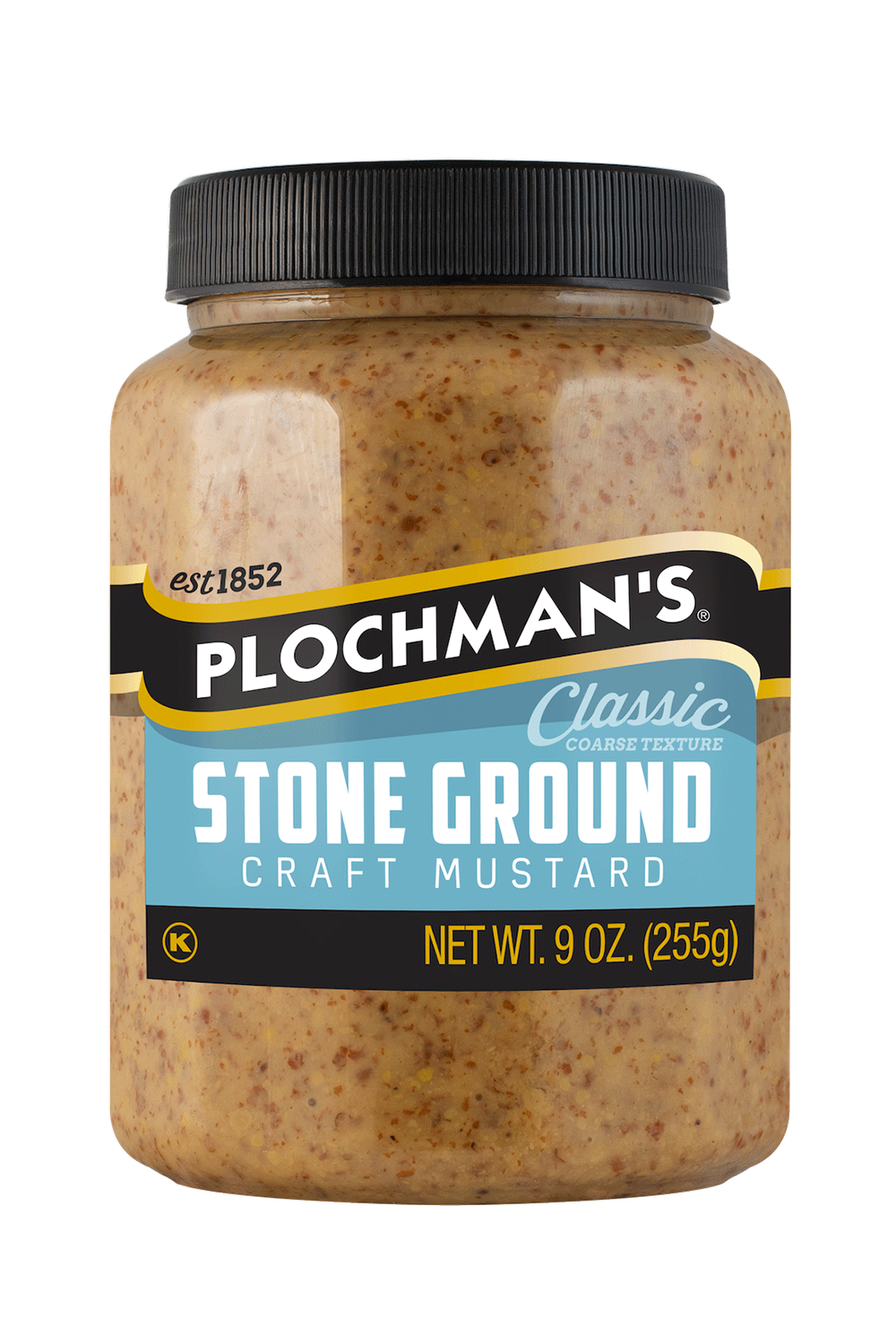 Plochman's Stone Ground mustard in 9oz bottle