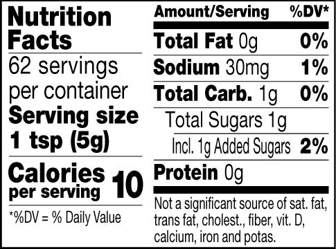 Balsamic mustard nutrition facts