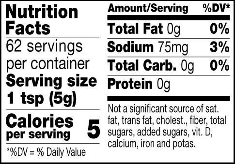 Cuban mustard nutrition facts