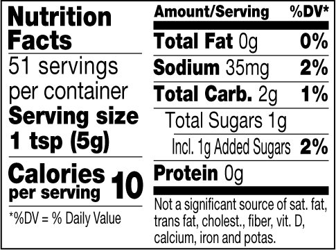 Sweet Fig mustard nutrition facts
