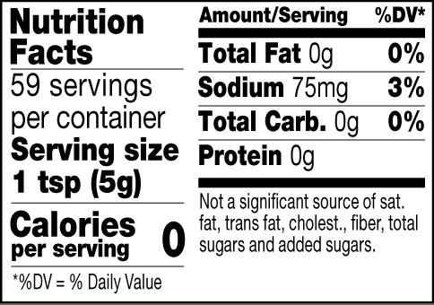Original Mild Yellow mustard nutrition facts