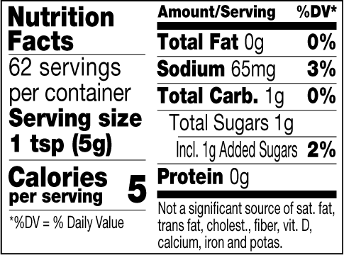 Tequila Blend nutrition facts
