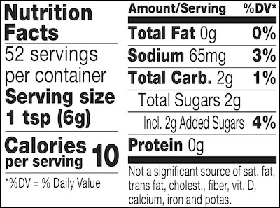 Champagne mustard nutrition facts